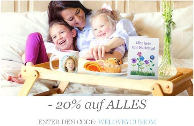 20% Rabatt auf ALLES! CODE: WELOVEYOUMOM für Zazzle.de