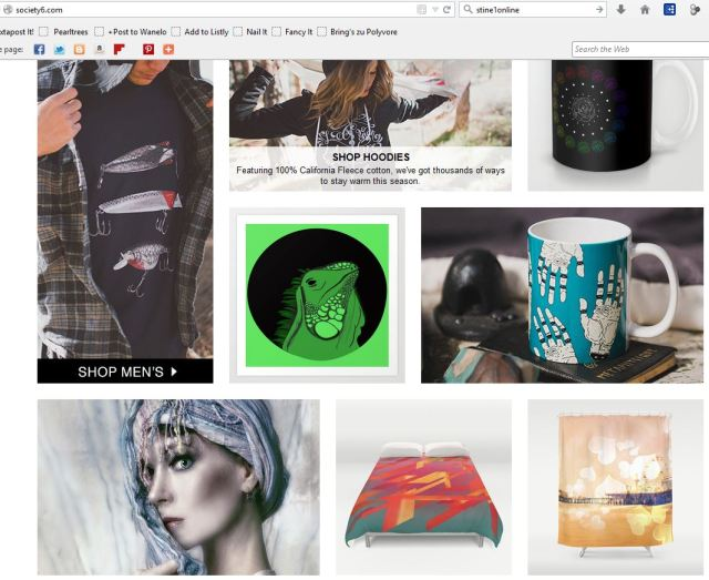 I have made it onto the frontpage of Society6