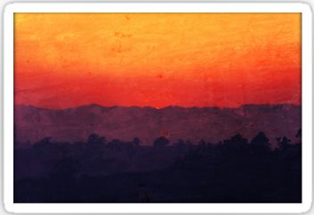 Five Shades of Sunset Painting Stickers