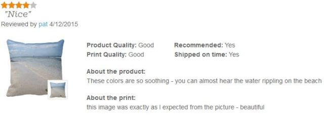 Pillow Review on Zazzle