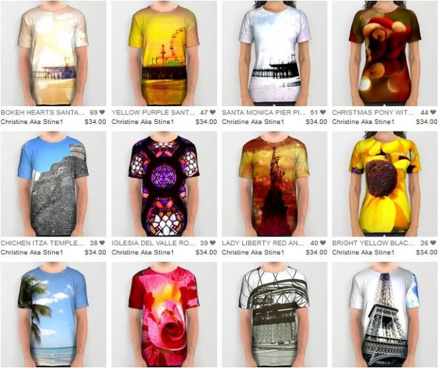 All Over Print Shirts by Christine Aka Stine1
