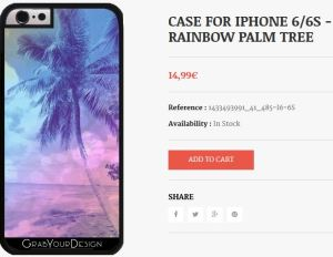 Case for Iphone 6/6S - Rainbow Palm Tree