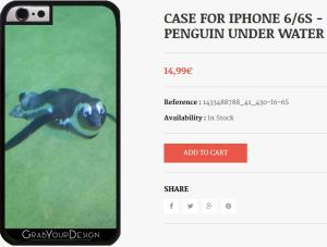 Case for Iphone 6/6S - Penguin under Water
