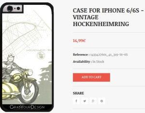 Case for Iphone 6/6S - Vintage Hockenheimring