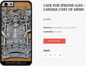 Case for Iphone 6/6S - Canada Coat of Arms