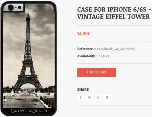 Case for Iphone 6/6S - Vintage Eiffel Tower