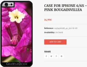 Case for Iphone 6/6S - Pink Bougainvillea