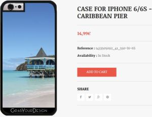 Case for Iphone 6/6S - Caribbean Pier