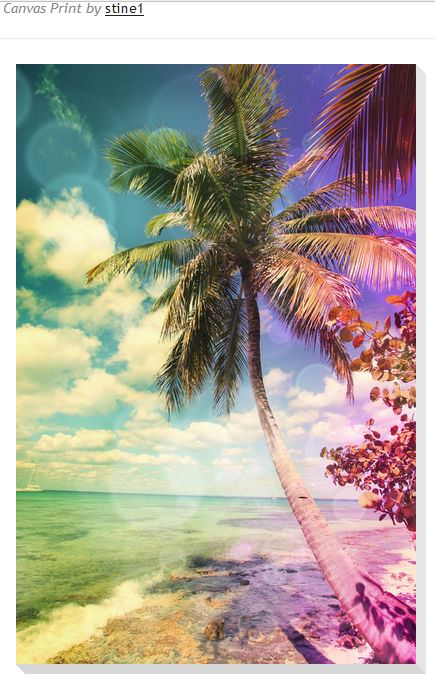 Prismatic Palm Canvas Print by Christine aka stine1 on Artflakes