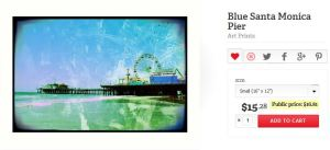 Blue Santa Monica Pier Art Print by Christine aka stine1 on Redbubble
