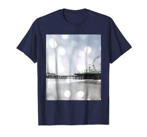 Grey bokeh Santa Monica Pier T-Shirt