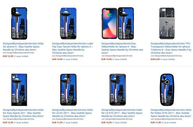 Seattle Smartphone Hüllen von stine1 bei Amazon