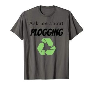 Ask me about Plogging T-Shirt with recycling symbol