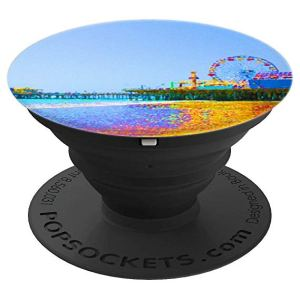 Funky Pixels Santa Monica Pier in Los Angeles - PopSocket