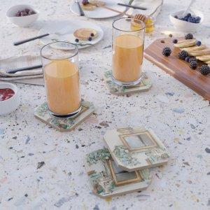 Santa Monica Pier French Decor Coasters by Christine aka stine1 on Society6