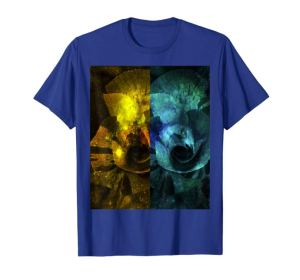 Yellow and blue faux sparkling Rose Digital Art T-Shirt