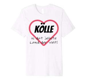 Kölle is dat jeilste Land der Welt T-Shirt mit Herz