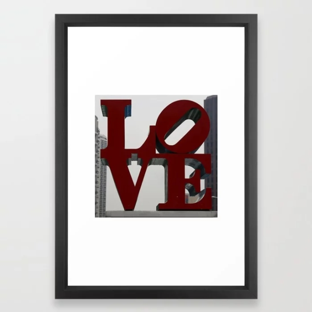Love Philadelphia Sculpture Framed Art Print Vector Black SMALL by Christine aka stine1 on Society6
