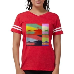Santa Monica Pier Pop Art Womens Football Shirt