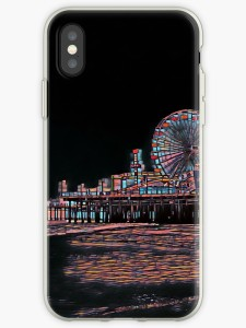 Stained Glass Santa Monica Pier iPhone Case by Christine aka stine1 on Redbubble