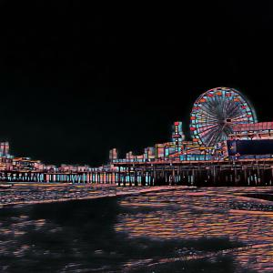 Stained Glass Santa Monica Pier by Christine aka stine1