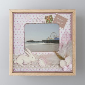 Happy Easter Santa Monica Pier Greeting Framed Mini Art Print by Christine aka stine1 on Society6