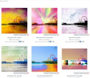 Santa Monica Pier digital Artwork by Christine aka stine1 on OhMyPrints