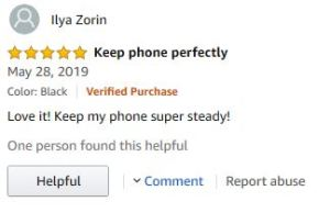 Amazon Customer Review of PopSocket