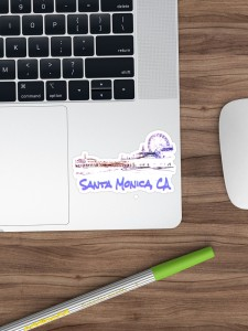 Santa Monica, CA Silhouette Stickers by Christine aka stine1 on Redbubble