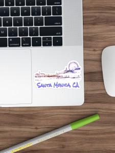 Santa Monica, CA Silhouette Stickers by Christine aka stine1 on Redbubble