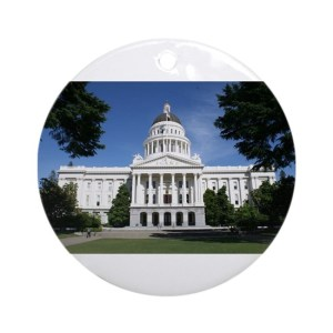 Capitol in Sacramento Round Ornament
