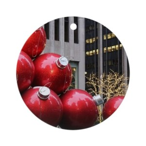 Christmas Ball Ornaments Ornament (Round)