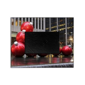Christmas Ball Ornaments Picture Frame