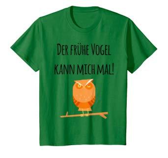 Der frühe Vogel kann mich mal! Verschlafene Eule T-Shirt