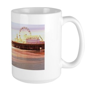 Santa Monica Pier Sunrise 15 oz Ceramic Large Mug