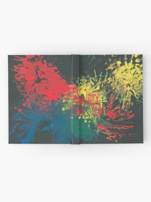 Impulsive Color Splash Notebook on Redbubble