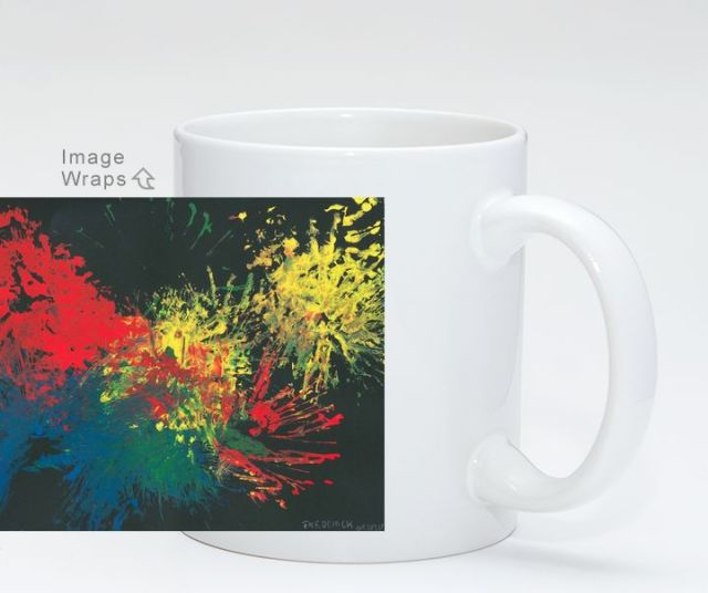 Impulsive Color Splash Toddler Art Coffee Mug on Artpal
