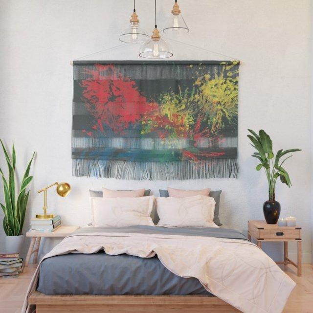 Impulsive Color Splash Toddler Art Wall Hanging on Society6