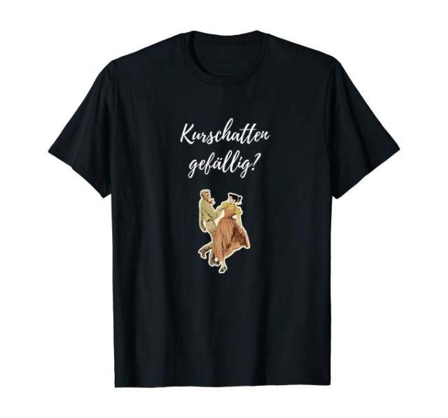 Freches Kurschatten gefällig? Retro Pärchen T-Shirt