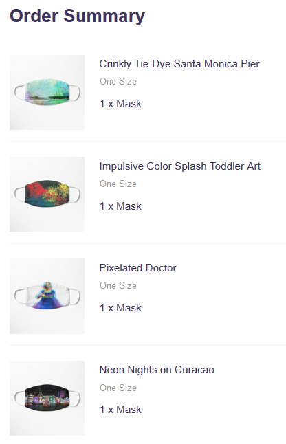 Cloth Face Masks on Redbubble by Christine aka stine1