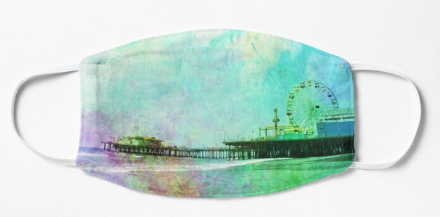 Preview of Crinkly Tie-Dye Santa Monica Pier Mask