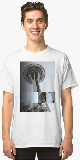 Seattle Space Needle Mosaic Classic T-Shirt Designed by stine1