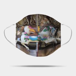 Vintage Carousel Horse galloping Mask