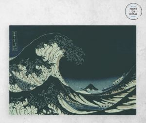 Great Wave at Night Metal Poster on Displate