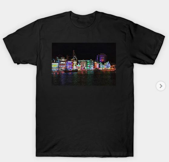 Neon Nights on Curacao T-Shirt on TeePublic by Christine aka stine1